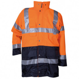PAROS 3 in 1 ORANGE High visibility parka