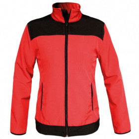 VIVID RED Lady's softshell jacket