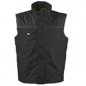 LANOS BLACK/GREEN Work vest