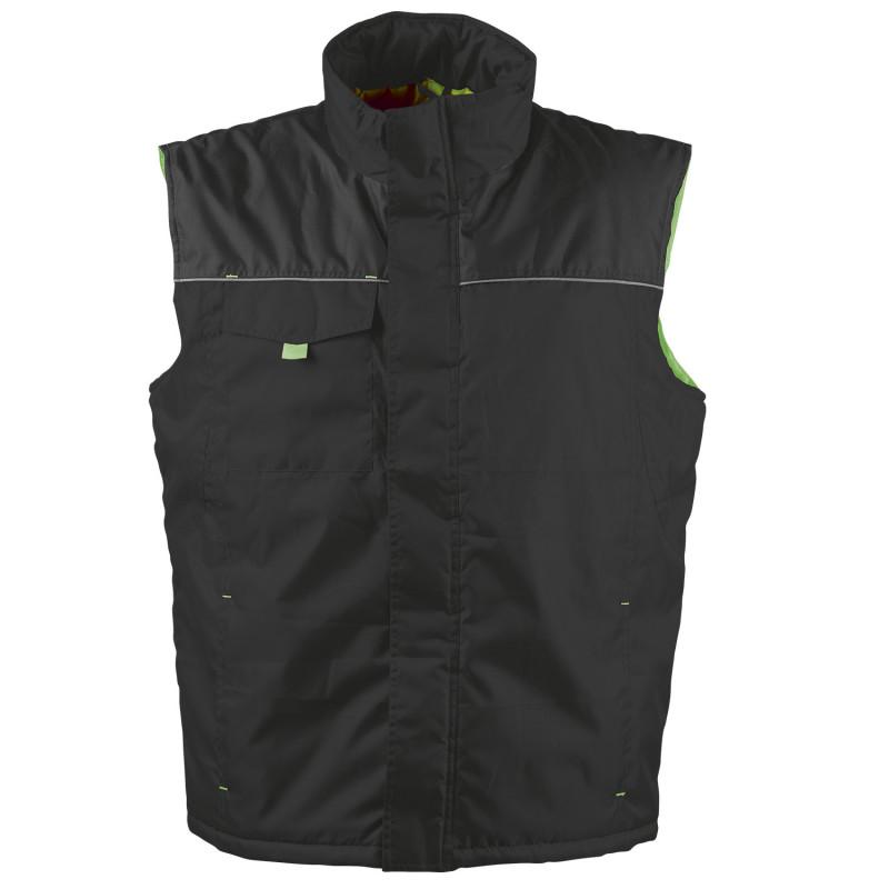 LANOS BLACK/GREEN Work vest