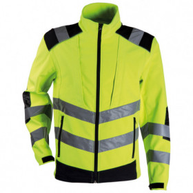 BRIGHT High visibility softshell jacket