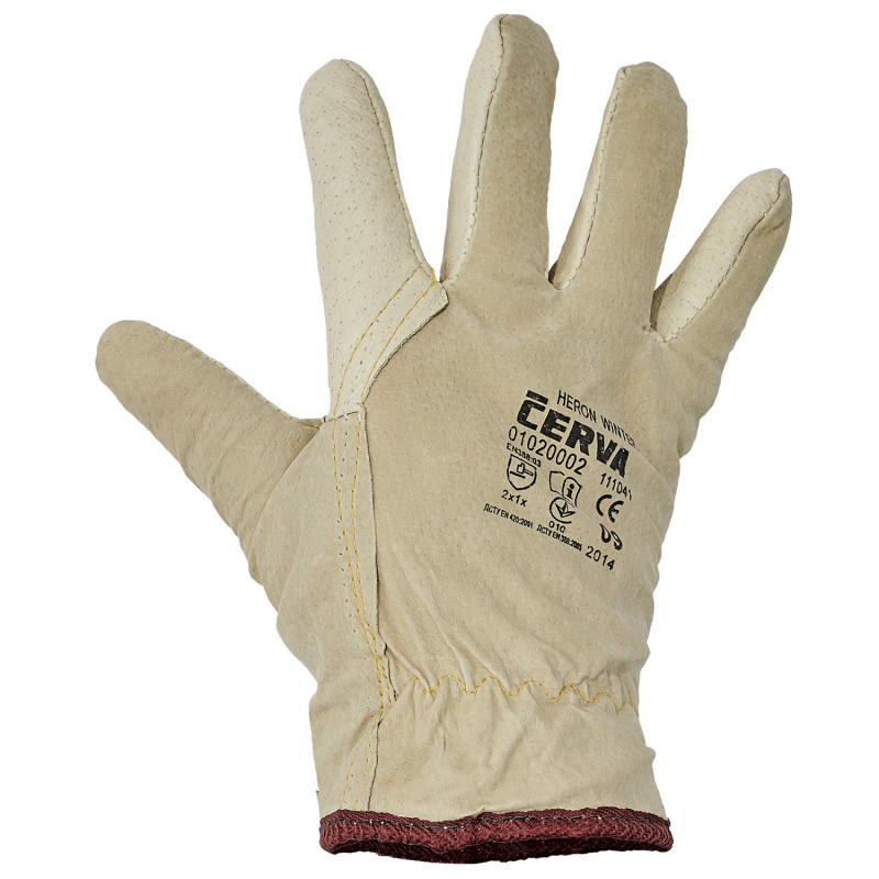 HERON WINTER Full leather winter gloves