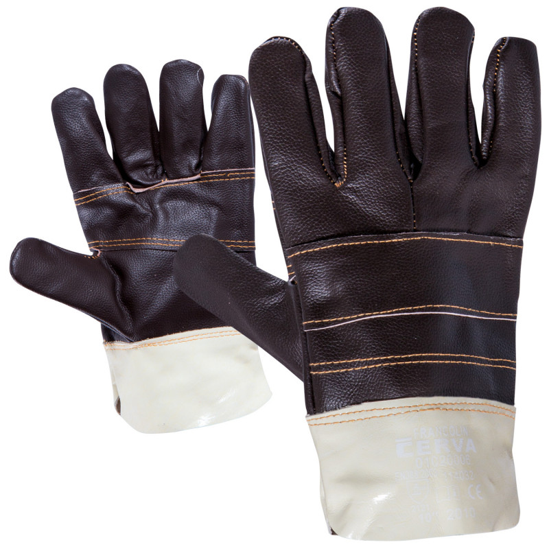 FRANCOLIN Leather and textile gloves