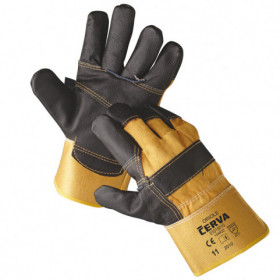 ORIOLE Leather and textile gloves