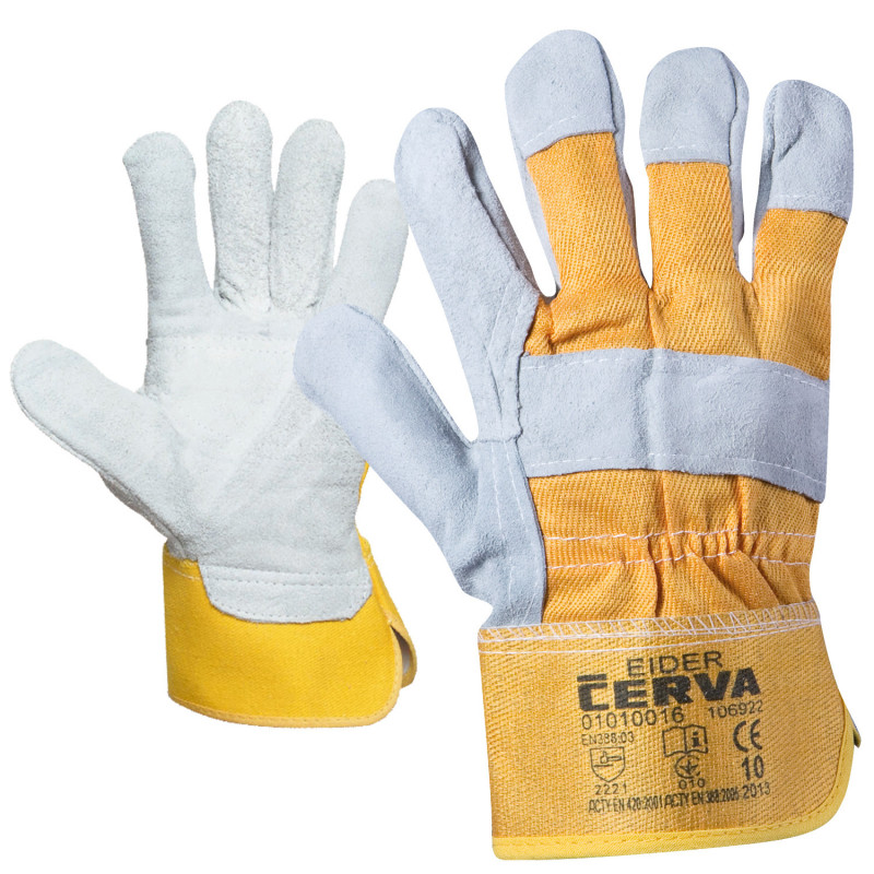 EIDER Leather and textile gloves