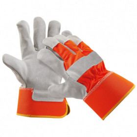 CURLEW HV ORANGE Leather and textile gloves