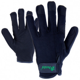 GRANDE Leatherette and textile gloves