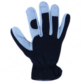 HUERTA Leatherette and textile gloves