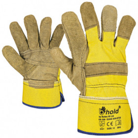 GUAN Leather and textile gloves