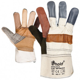 RUFF Leather and textile gloves 1