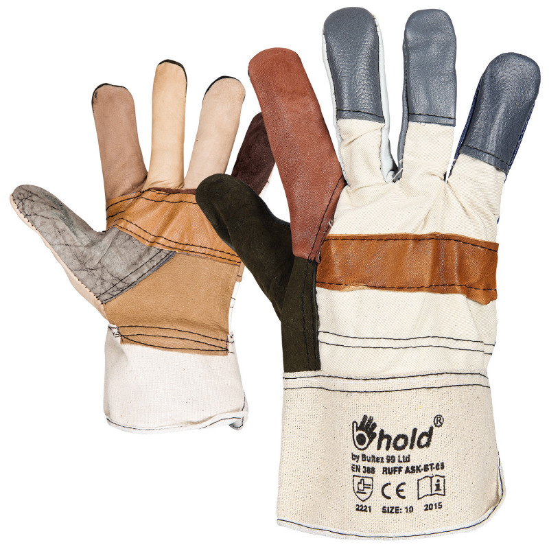 RUFF Leather and textile gloves
