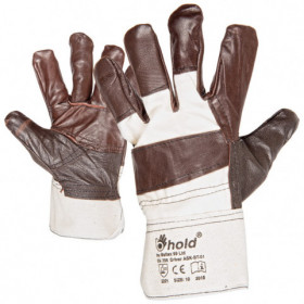 DRIVER Leather and textile gloves