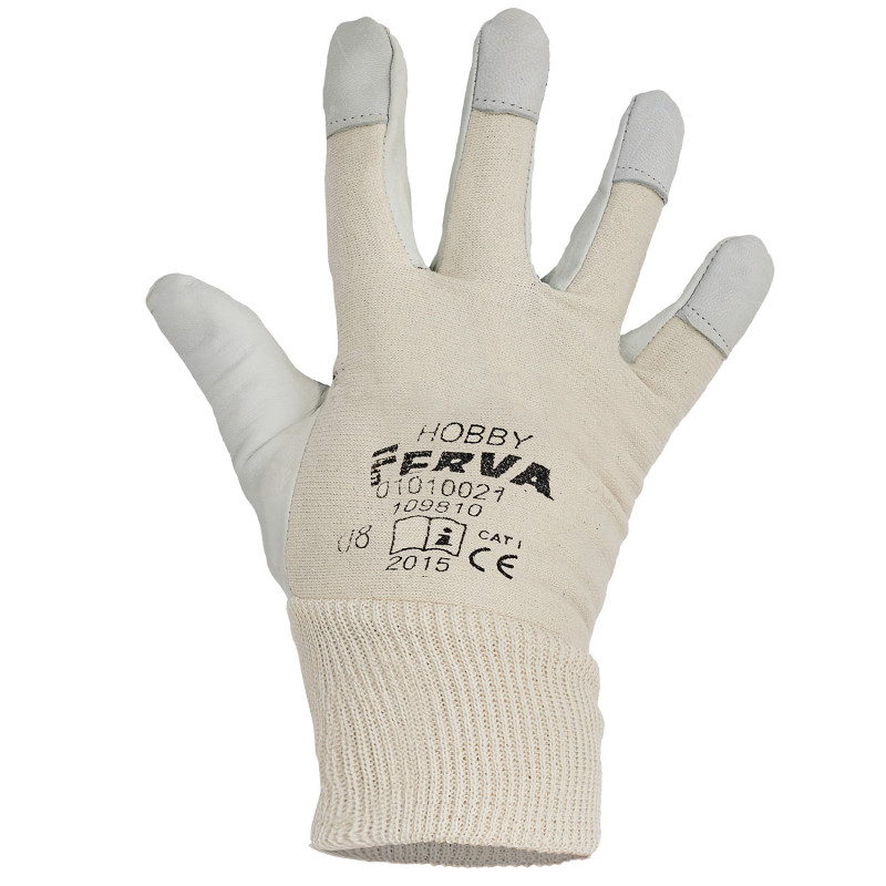 HOBBY Leather and textile gloves
