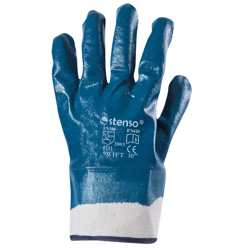 SWIFT Nitrile dipped gloves