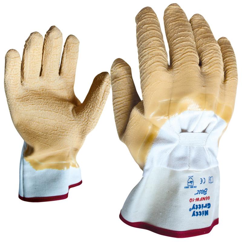 SHOWA 66NFW NITTI GRITTY Latex dipped gloves