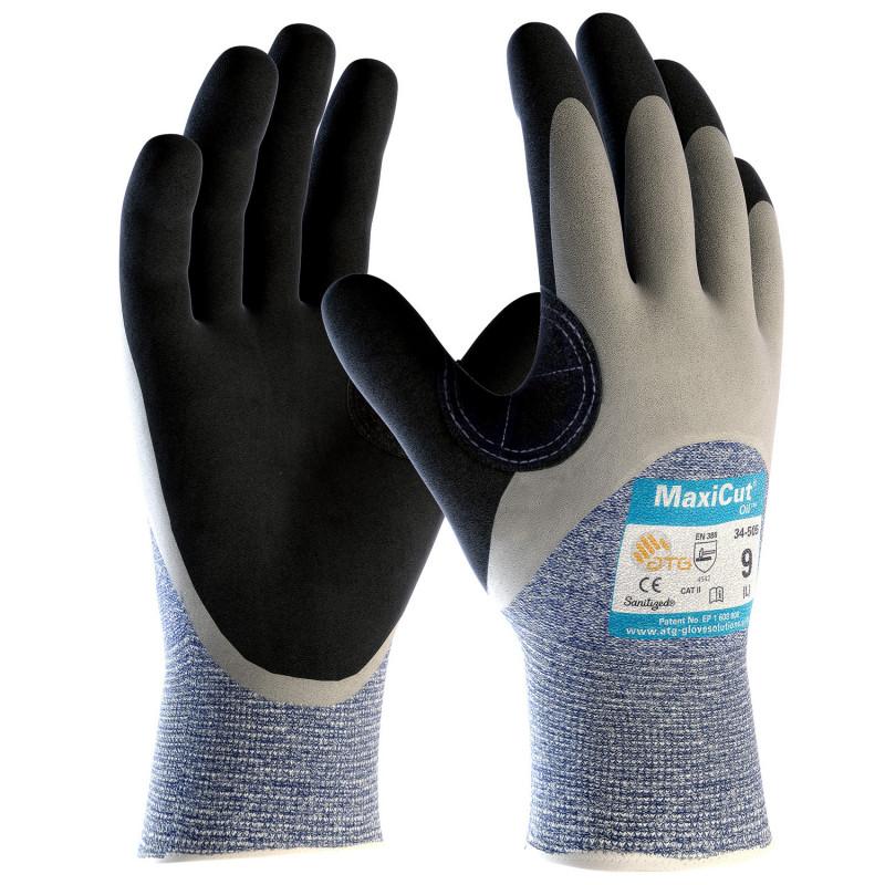Ръкавици топени в нитрил ATG MAXICUT OIL