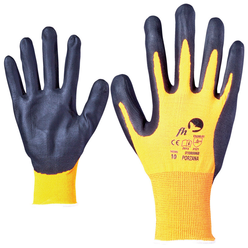 PORZANA HV Nitrile dipped gloves