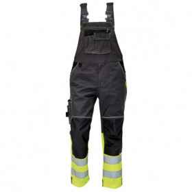 KNOXFIELD HV YELLOW High visibility bib pants