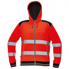 KNOXFIELD HV RED High visibility sweatshirt 1