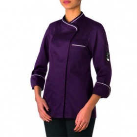 STEFANIA PURPLE Lady's chef's tunic