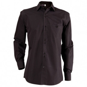 ELEGANCE BLACK Men's long sleeve shirt 1