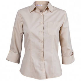 CAMISA BEIGE Lady's 3/4 sleeve shirt