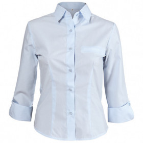 CAMISA BLUE Lady's 3/4 sleeve shirt
