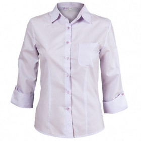 CAMISA LIGHT PURPLE Lady's 3/4 sleeve shirt 1