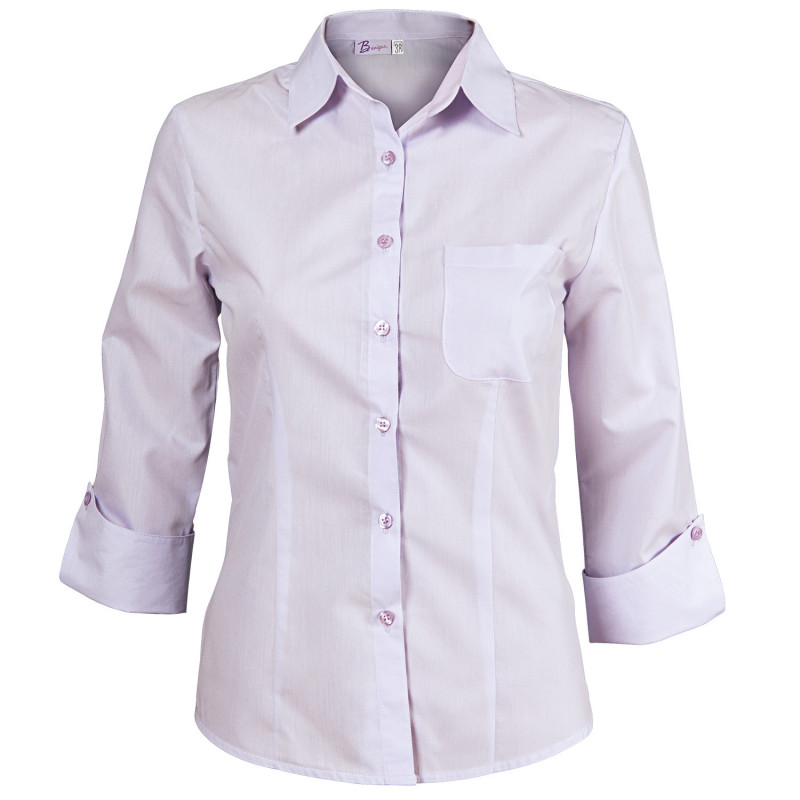CAMISA LIGHT PURPLE Lady's 3/4 sleeve shirt