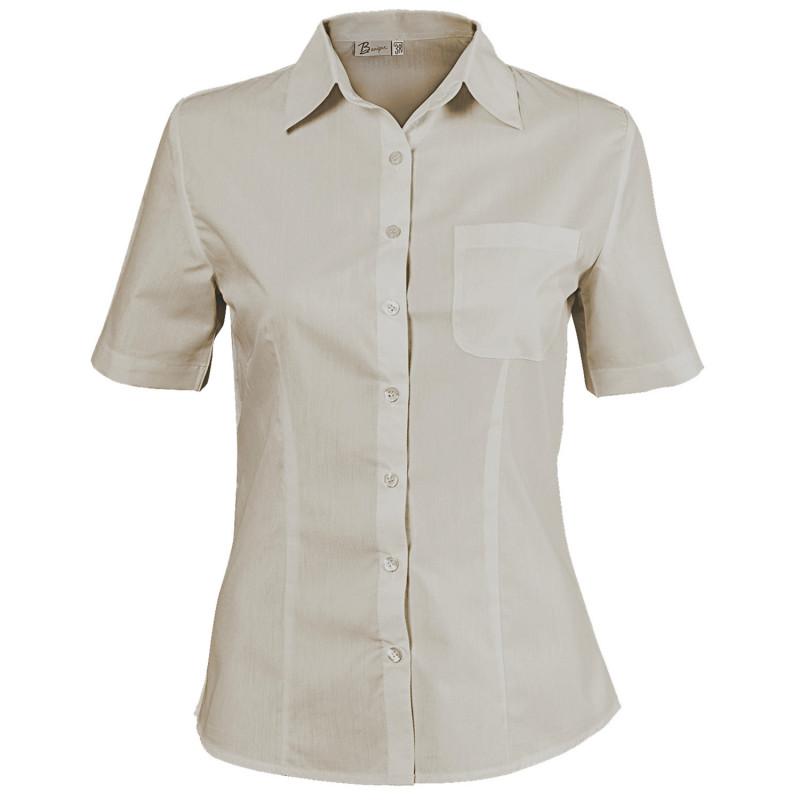 CAMISA BEIGE Lady's short sleeve shirt
