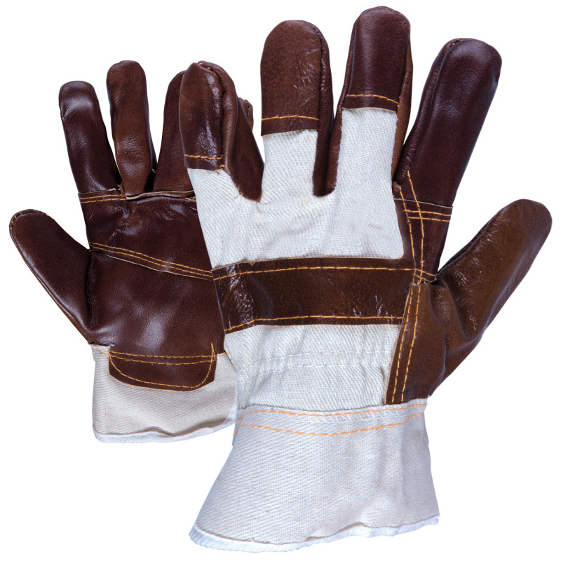 LINNET Leather and textile gloves