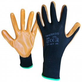 CARD TWISTER EVO Nitrile dipped gloves