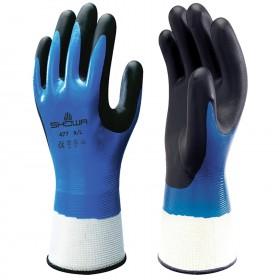 Топлозащитни ръкавици топени в нитрил SHOWA 477