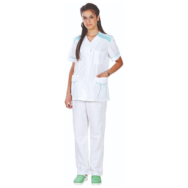 Медицински туника с панталон G2 WHITE