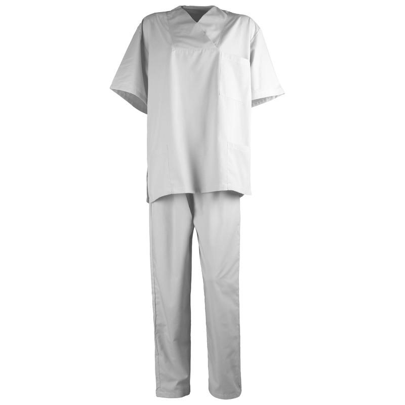 Медицински туника с панталон G3 WHITE