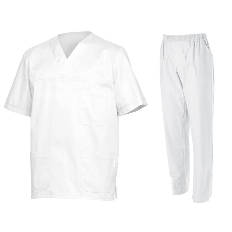 Медицински туника с панталон SIMONE WHITE