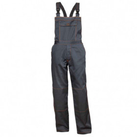 PRIMO GREY Work bib pants