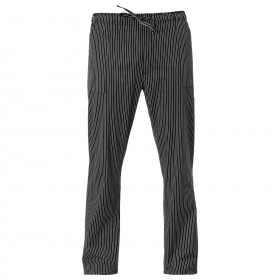 ENRICO BLACK STRIPE Chef's pants