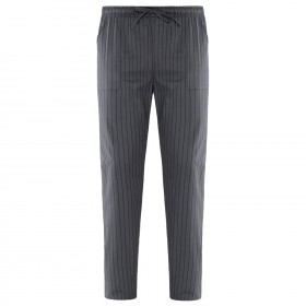 ENRICO GREY STRIPE Chef's pants