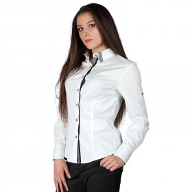 ALBERTA WHITE Lady's long sleeve shirt