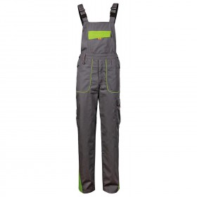 PRISMA SUMMER LIGHT GREY Work bib pants