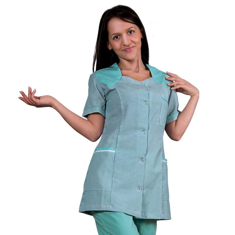 X10 RESEDA STRIPE Lady's work tunic