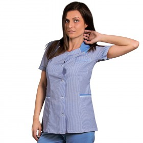 X10 BLUE STRIPE Lady's work tunic