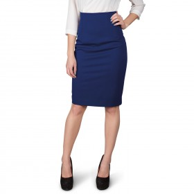 TEA ROYAL BLUE Lady's high waist skirt