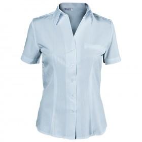 LEA LIGHT BLUE Lady's short sleeve shirt