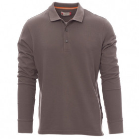 PAYPER FLORENCE DARK GREY Long sleeve polo t-shirt