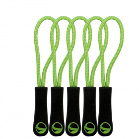 Zipper puller GREEN 5 PCs.