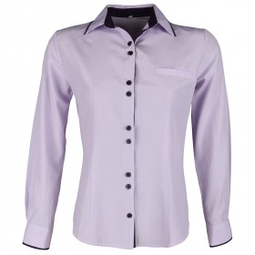 ALEXIA LIGHT PURPLE STRIPE Lady's short sleeve shirt