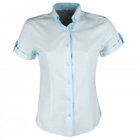 GABRIELE BLUE Lady's short sleeve shirt