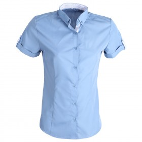 PORTO FINO BLUE Lady's short sleeve shirt